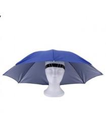 Eb Plomo Y Plata Cinta Elástica Sombrero Soleado Paraguas-Azul - Envío Gratuito