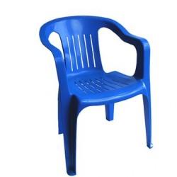 Silla Diplastica Brexia para Jardín-Azul - Envío Gratuito