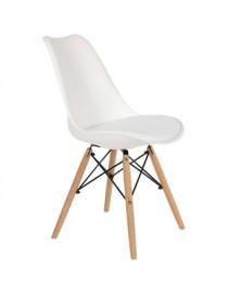 Silla Estilo Eames Color Blanca Decoración De Interiores - Envío Gratuito