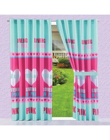 Cortina Decorativa Pink Love - Envío Gratuito
