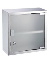 Gabinete Para Baño Acero Inoxidable Con Chapa Modelo 430360 Namaro Design - Envío Gratuito