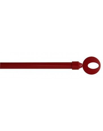Cortinero Decorativo Kit 110-200Cm Rojo Circulo Cintacor - Envío Gratuito