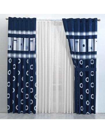 Cortina Decorativa Terranova Azul - Envío Gratuito