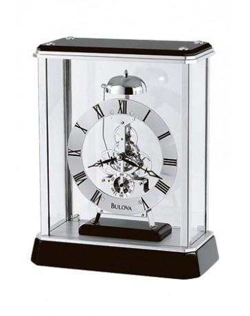 Reloj Bulova de Mesa, Base de Madera Sólida Negra, - Envío Gratuito