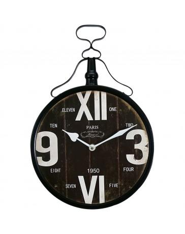 Reloj de Pared Metálico. Dimensiones 25.5 X 37.5 X Peaktour - Envío Gratuito