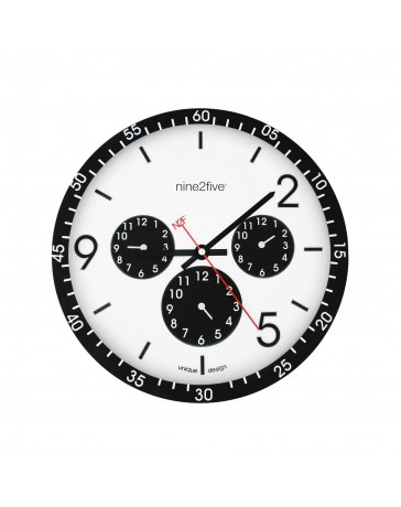 Reloj de Pared Nine To Five Clocks Pcls01Ng - Envío Gratuito