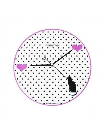 Reloj de Pared Nine To Five Clocks Pgrl01Rs - Envío Gratuito