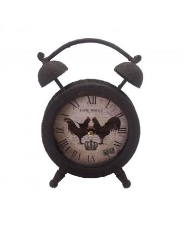 Reloj de Mesa Beige con Gallos Running - Envío Gratuito