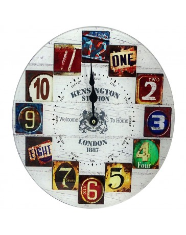 Reloj de Pared. Dimensiones 35 X 35 X 4 Cm.klg1586 Peaktour - Envío Gratuito