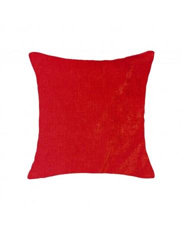 Cojín Liso Pet Chenille 50X50Cm Rojo - Envío Gratuito