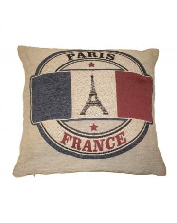 Cojín Decorativo Bandera Francia 45X45 Rojo Azul - Envío Gratuito