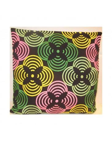Cojín Decorativo Flores 45X45 Multicolor - Envío Gratuito