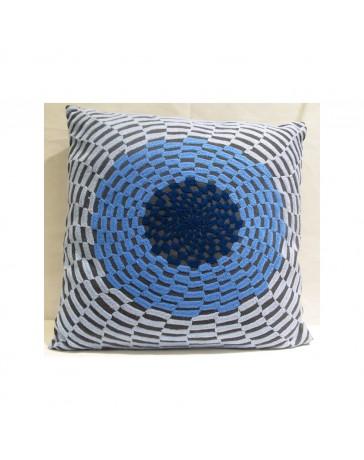 Cojín Decorativo Círculo Azul 45X45 Azul - Envío Gratuito