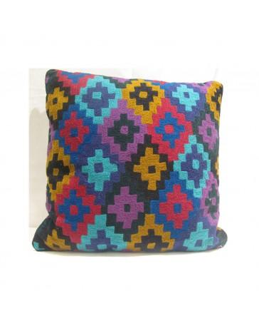 Cojín Decorativo Bordado 45X45 Multicolor - Envío Gratuito
