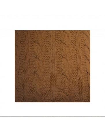 Cojín Dream Home Knitted Cable 60X60 Café Dpkc24- - Envío Gratuito