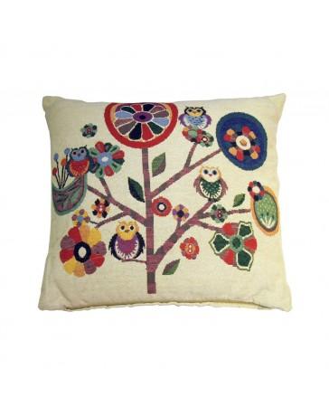 Cojín Decorativo Jardín Búho 45X45 Multicolor - Envío Gratuito