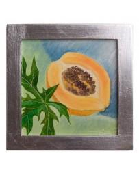 Cuadro Artesanal de Fruta Papaya - Envío Gratuito