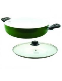 Arrocera de Aluminio YAJAD con recubrimiento de ceramica 28 cm-Verde - Envío Gratuito