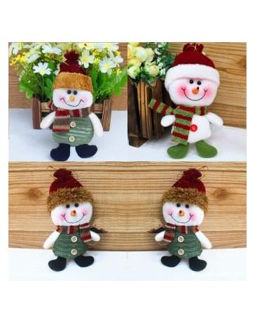 Nueva tela colgando decoraciones de Navidad Muñeca Elk Arbol de Navidad fiesta regalo muñeco de nieve - Envío Gratuito