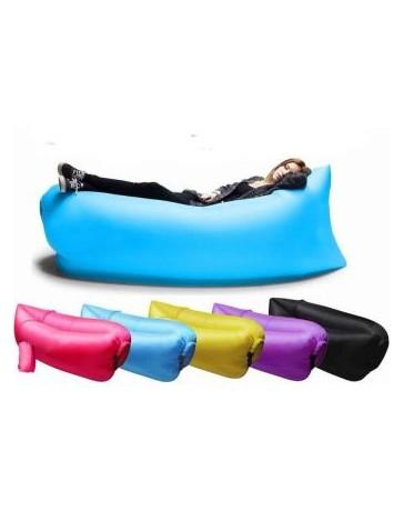 Sillon Puff Inflable Sofa Cama Portatil Lamzac - Camping - Playa Lay Puff Bag - Envío Gratuito