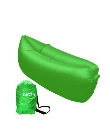Lazy Hangout De Aire Inflable Del Saco De Dormir Sofá Cama Para Acampar Al Aire Libre - Verde - Envío Gratuito