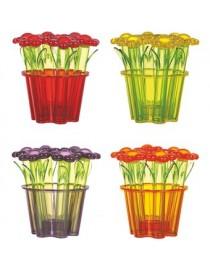 Jgo. 6 Especieros c/ Base Flores - Envío Gratuito