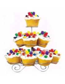 Base Para Cupcakes Estructura Metalica 13 Cupcakes - Envío Gratuito