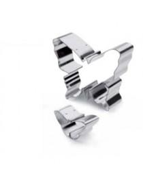 Cortadores para Galletas IBILI Modelo 735600 Forma de Mariposas 2 piezas-Plateado - Envío Gratuito