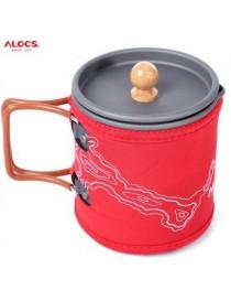 ALOCS Tetera Cafetera 600ML Outdoor Coffee Pot Kettle Cup Set For Car Travel Camping - Envío Gratuito