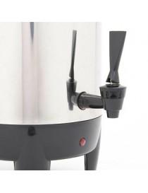 Cafetera Percoladora Euroline 30 Tazas-Acero Inoxidable con Negro - Envío Gratuito