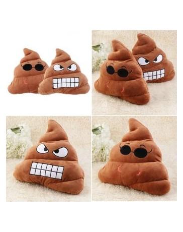 EH Emoji Poop en forma de peluche de juguete muñeca suave Throw Pillow Sofá cama Cojín regalo (Marrón) - Envío Gratuito