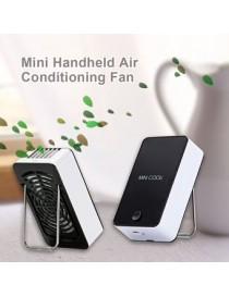 Recargable Ventilador De Refrigeración 1400mAh 5V Mini Portátil Sin Cuchilla De Aire Acondicionado - Negro - Envío Gratuito