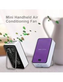 Recargable Ventilador De Refrigeración 1400mAh 5V Mini Portátil Sin Cuchilla De Aire Acondicionado - Púrpura - Envío Gratuito