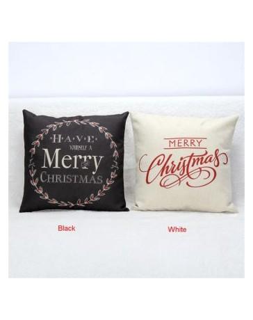 Hot decoraciones de Navidad para la Navidad Letra Inicio de la vendimia Sofá cama Almohada Decoración Navidad - Envío Gratuito