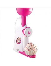 Máquina Fro-Cream Nostalgia MTC100 para Preparar Postres con Crema-Blanco con Rosa - Envío Gratuito