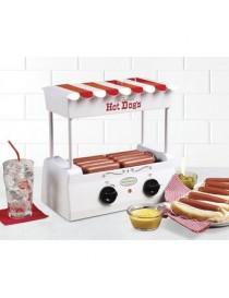 Máquina De Hot Dogs Nostalgia HDR565 Rodillos Giratorios Diseño Vintage -Blanco - Envío Gratuito