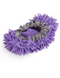 MagiDeal Púrpura Fregona Mopa Almohadillada Zapato Cubierta Limpiador Piso Limpieza Polvo - Envío Gratuito