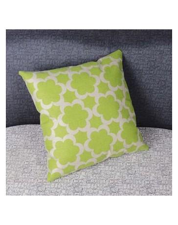 Seis pétalos de flores del amortiguador de la almohadilla de algodón de lino para Home Office Sofá cama(Verde) - Envío Gratuito