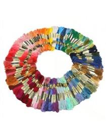Pixnor TINKSKY 100pcs 8M Multicolor De Algodón De Punto De Cruz Bordado Hilos Seda Hilos De Coser - Envío Gratuito