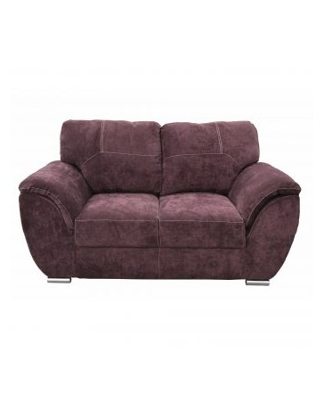Love Seat Moderno Pekin Fabou Muebles Purpura - Envío Gratuito