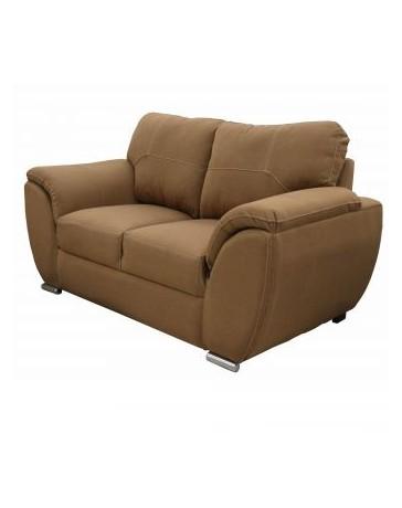 Love Seat Moderno Pekin Fabou Muebles Nogal - Envío Gratuito