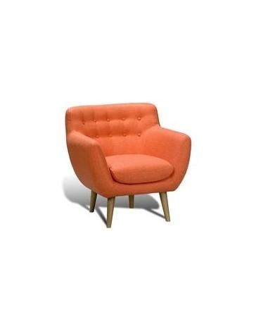 Sillón Individual, Vintage Home Designe, Orange Seat, Tapizado tipo Gamuza- Naranja - Envío Gratuito
