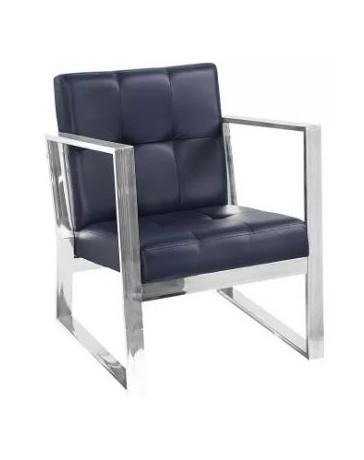 Silla Sala Sillon sofa Minimalista Modernista En Piel Elegante - Envío Gratuito