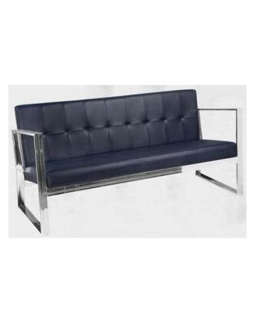 Sofa Sala Sillon Minimalista 3P Modernista En Piel Elegante - Envío Gratuito