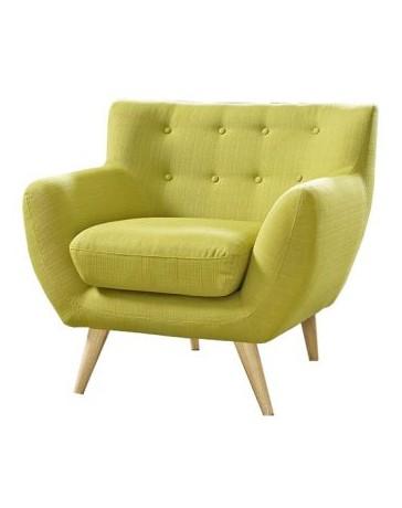 Sillón Individual, Vintage Home Designe, Green Seat, Tapizado Tipo Gamuza- Verde Limón - Envío Gratuito