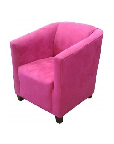 Sillón Individual, Vintage Home Designe, Rousse, Tapizado En Tela Gamuza- Rosa Fiusa - Envío Gratuito