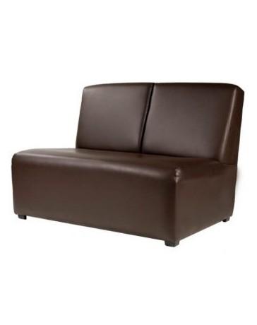 Sillón Love Seat, Vintage Home Designe, Marian, Tapizado en Vinipiel- Café - Envío Gratuito