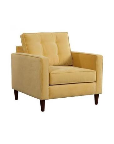 Sillon Individual marca Zuo modelo Savannah - dorado (amarillo crema) 100177 - Envío Gratuito
