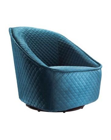 Sillon Individual marca Zuo modelo Pug Swivel - Azul marino / 100251 - Envío Gratuito