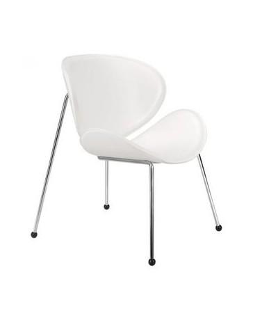 Silla ocasional marca Zuo modelo Match color blanco / 100102 - Envío Gratuito